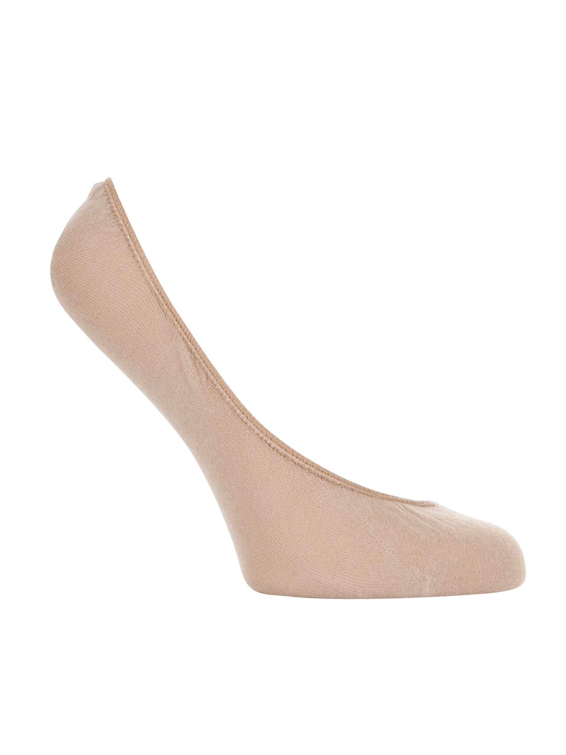 John Lewis Cotton Foot Socks, Nude