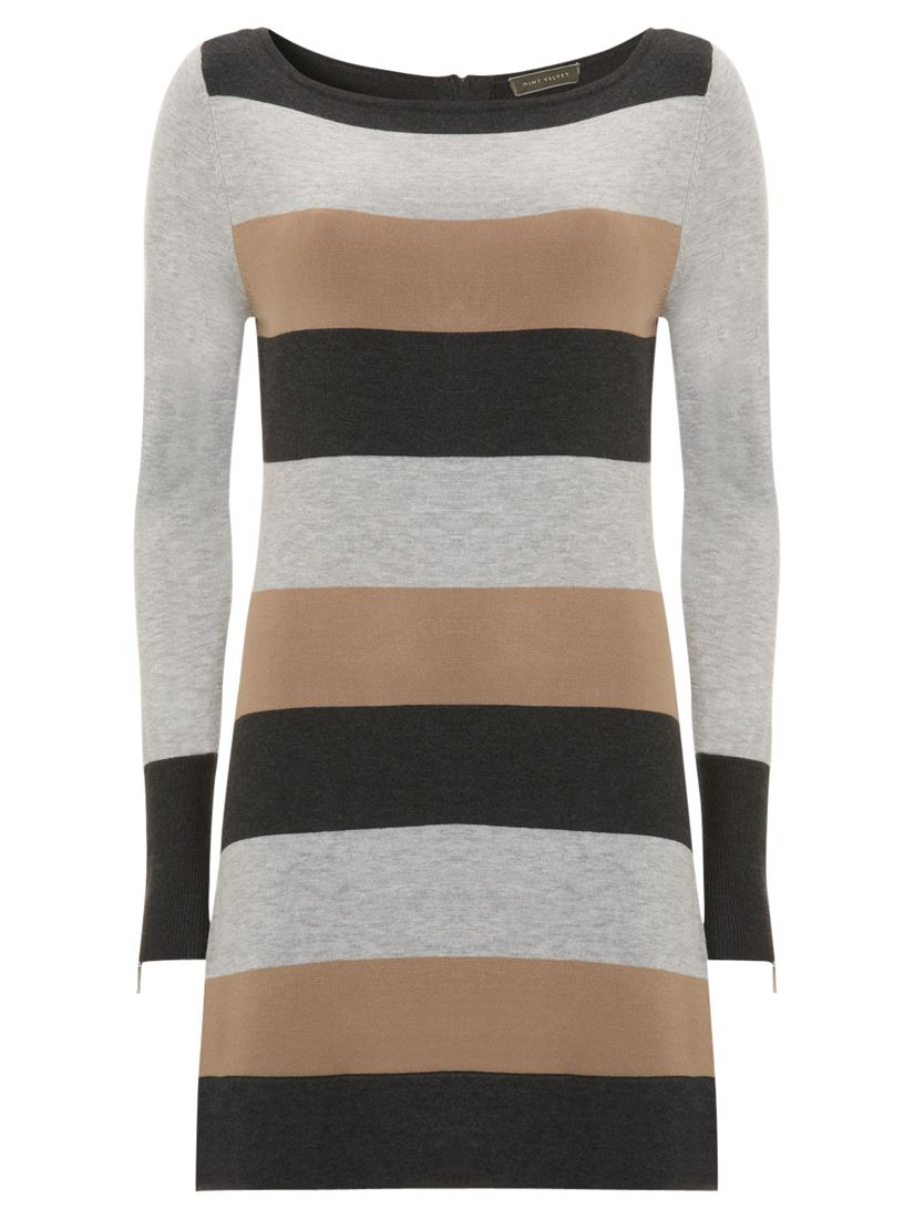 Mint Velvet Striped A-line Tunic Dress, Multi