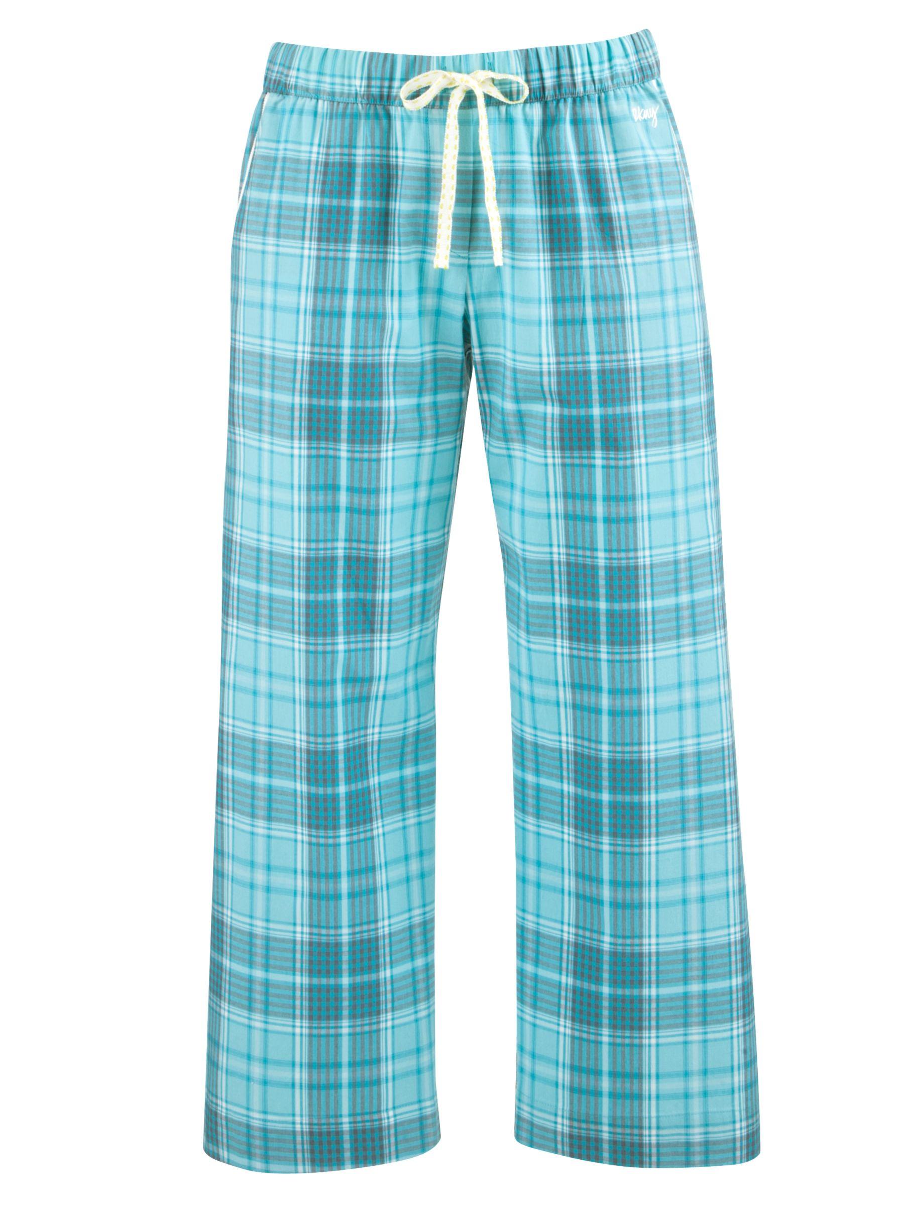 DKNY Capri Checked Pyjama Bottoms, Riveria