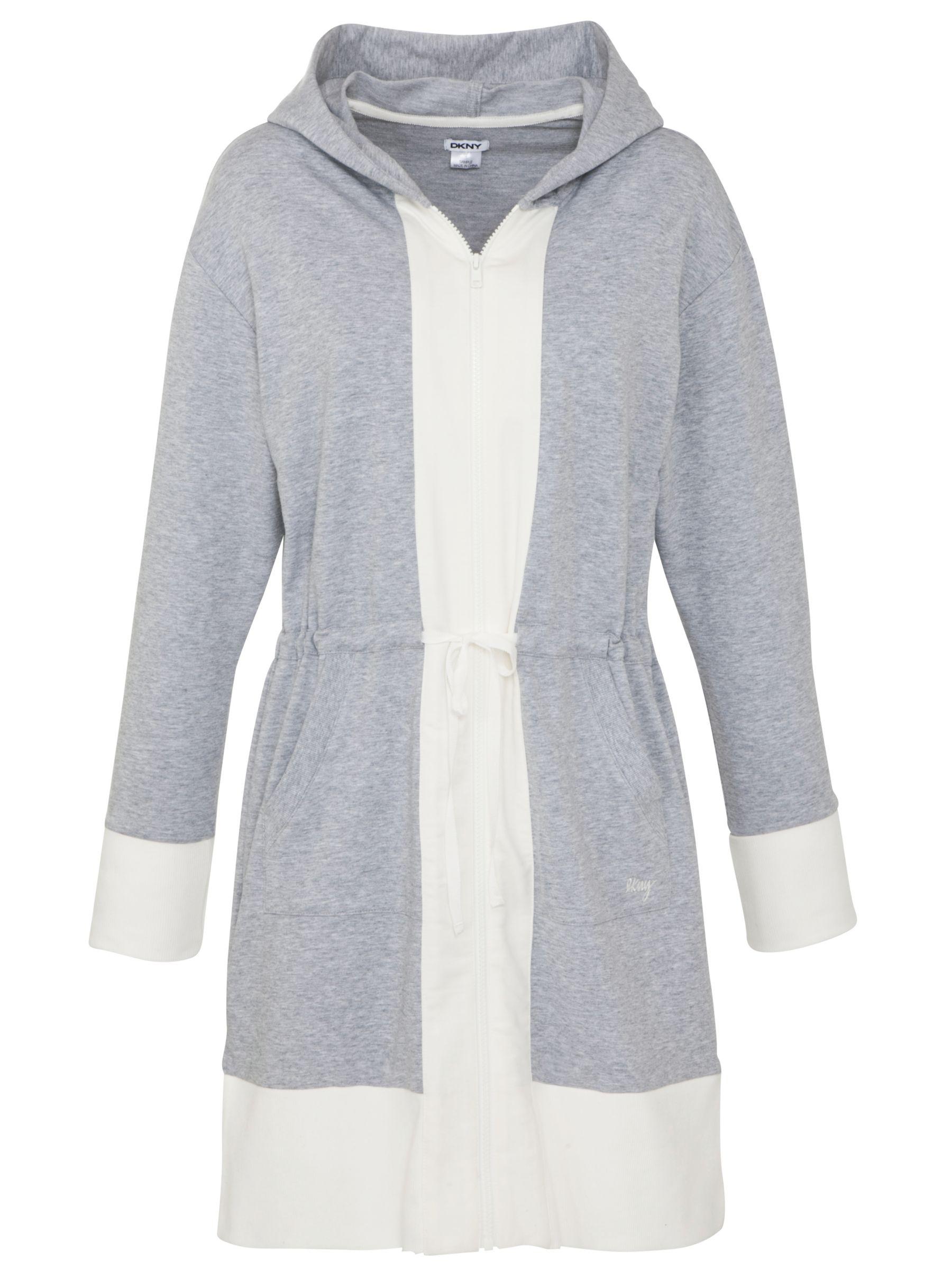 DKNY Hooded Sleepshirt, Grey
