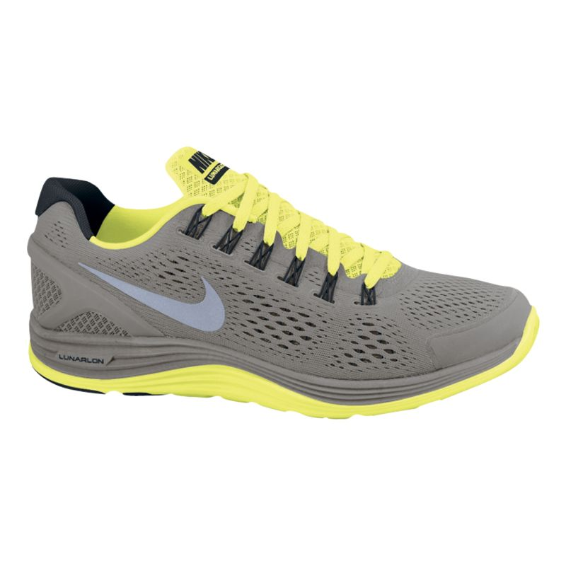 Nike LunarGlide+ 4 Running Shoes, Grey/Yellow
