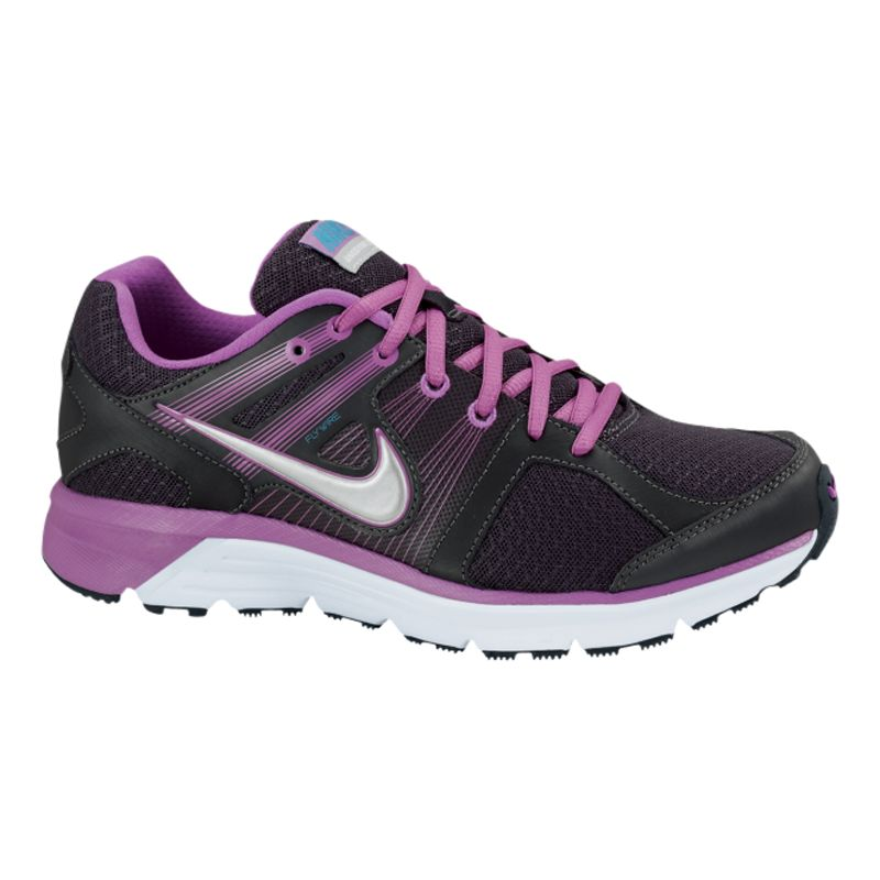 Nike Anodyne DS Women's Running Shoes, Black/Purple