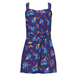 John Lewis Girl Parrot Playsuit, Purple