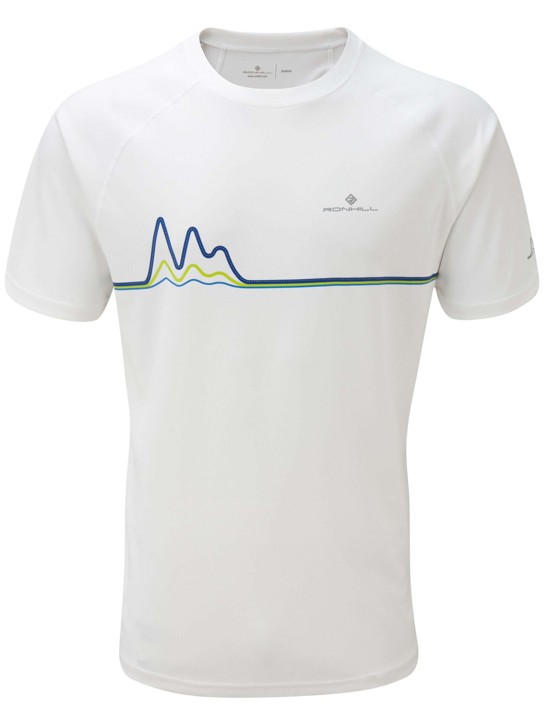 Ronhill Trail Vapourlite Short Sleeve Graphic T-Shirt, White
