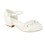 John Lewis Girl Jewelled Princess Shoes, Ivory £22-23