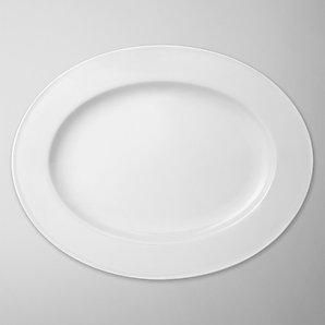John Lewis White Bone China Oval Platter, 36cm