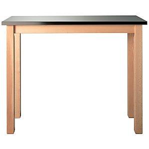 John Lewis Inox Bar Table, Stainless Steel/Beech