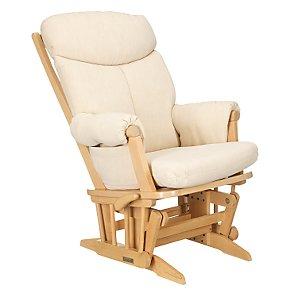 Polly Glider Chair, Soft Beige/Natural