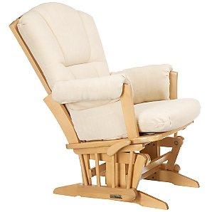 Sophie Glider Chair, Soft Beige/Natural