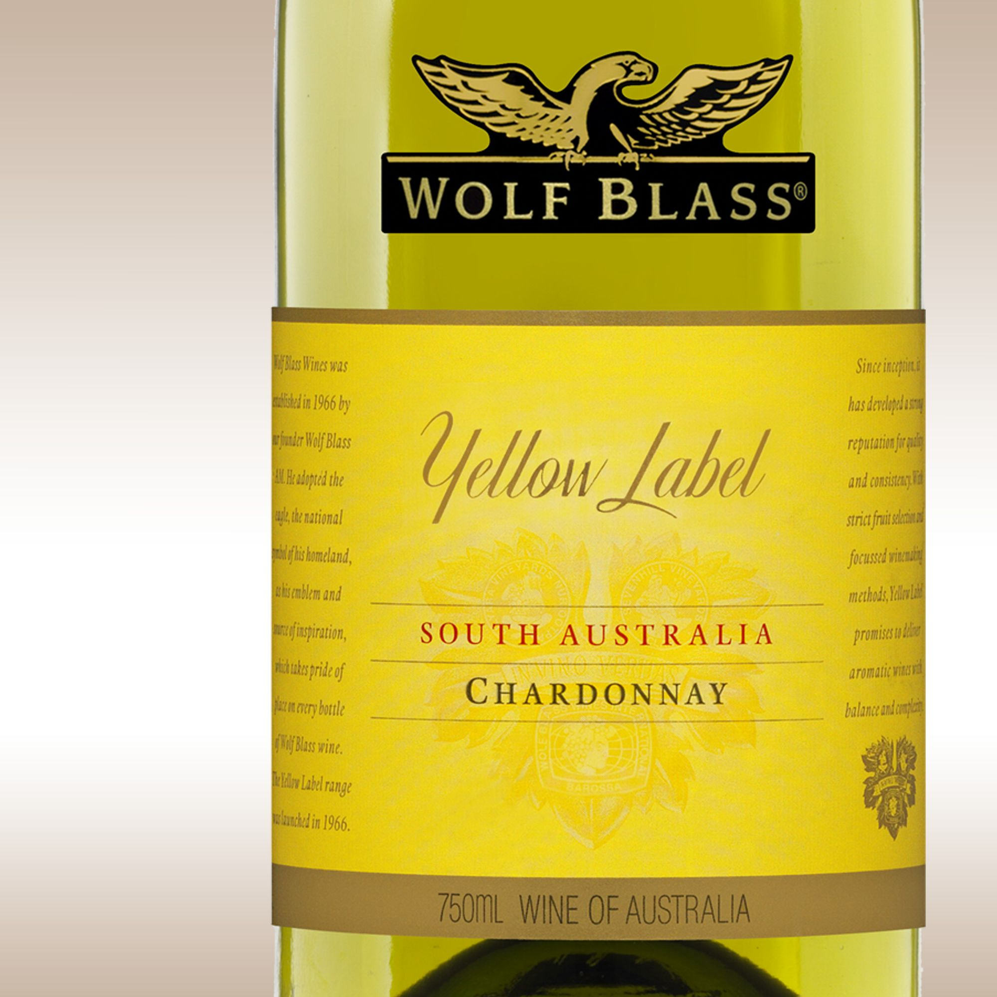 Wolf Blass Yellow Label Chardonnay 2008/09 S Australia