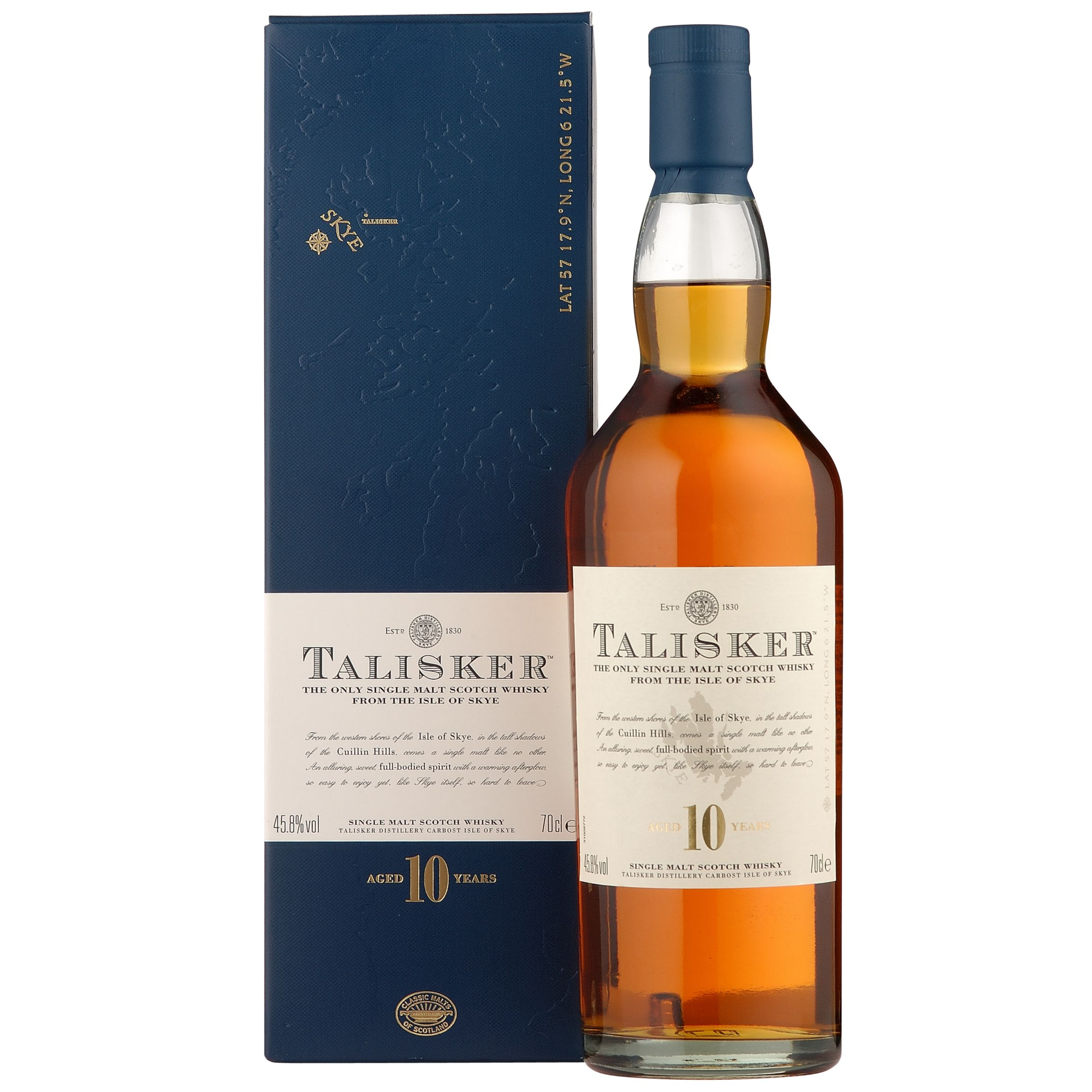 Talisker 10 Year Old Skye Malt Whisky