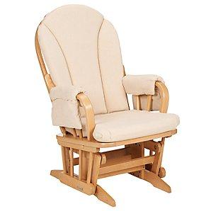 Hayley Glider Chair, Beige/Natural