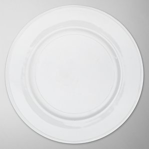 John Lewis White Bone China Plates, 30cm, Set of 4