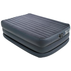 Electric Pump 3-Layer Airbed, Navy