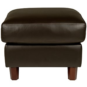 Ophelia Leather Footstool, Coffee