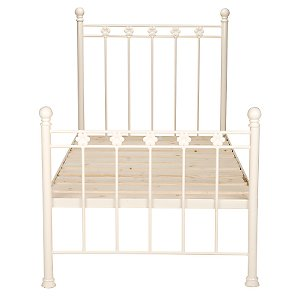 Daisy Wrought Iron Bedstead, Cream