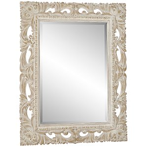 John Lewis Antique Cream Mirror, H70 x W55cm