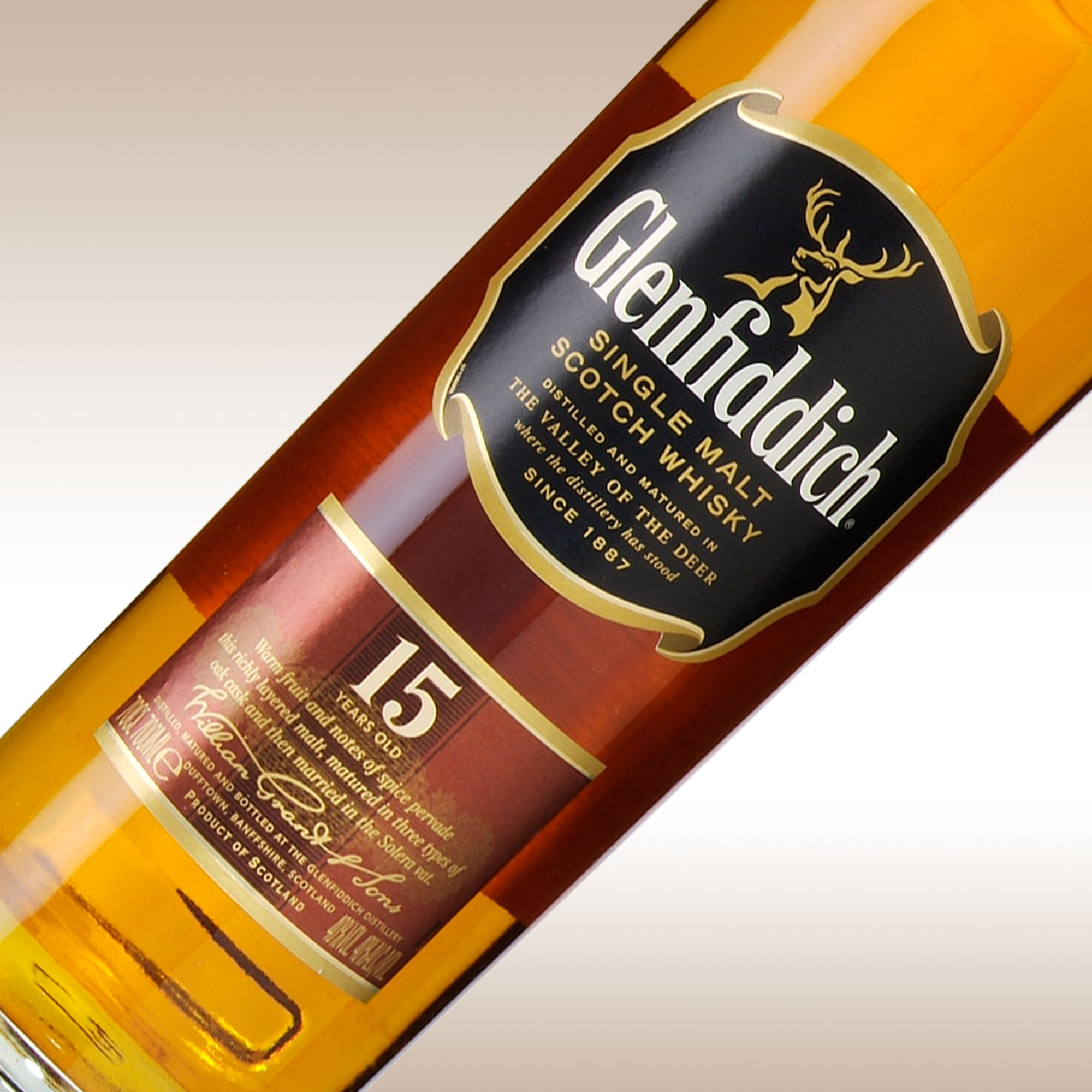 Glenfiddich 15 Year Old Speyside Malt Whisky