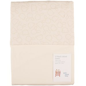 Hide and Seek Fitted Cotbed Sheets, Pack of 2
