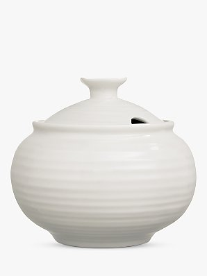 Sophie Conran for Portmeirion Covered Sugar Bowl, White, 0.3L