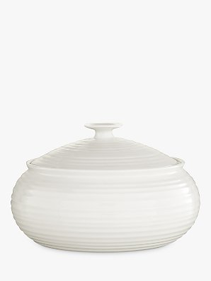 Sophie Conran for Portmeirion Covered Vegetable Dish, White, 27cm