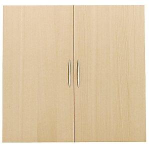 Laya Bookcase 75cm Solid Doors, Beech