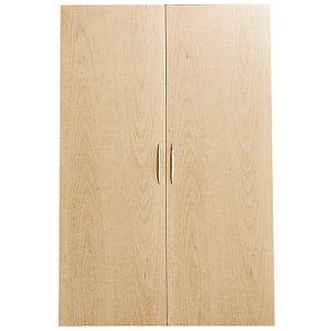 Laya Bookcase 110cm Solid Doors, Beech