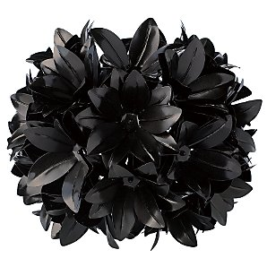 Buy Flower Ball Pendant Shade, Black online at JohnLewis.com :  lighting flower ball pendant floral ball lighting black pendant