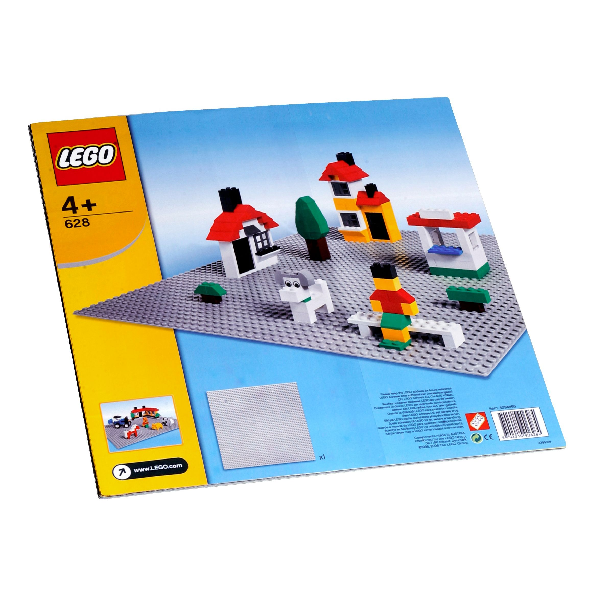 Lego Building Plate, Grey