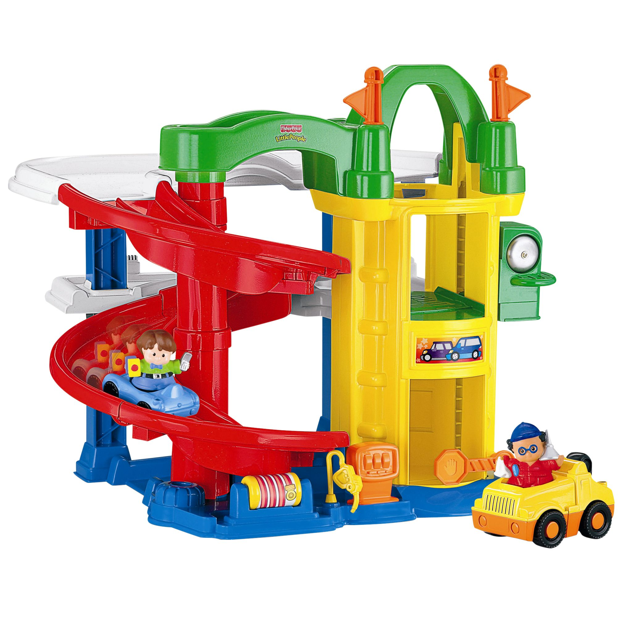 Fisher-Price Little People Racing Ramps Garage