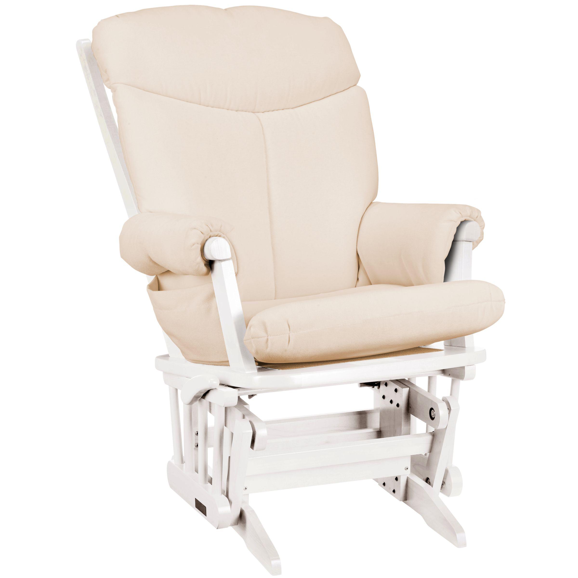 Polly Glider Chair, Soft Beige/White at JohnLewis