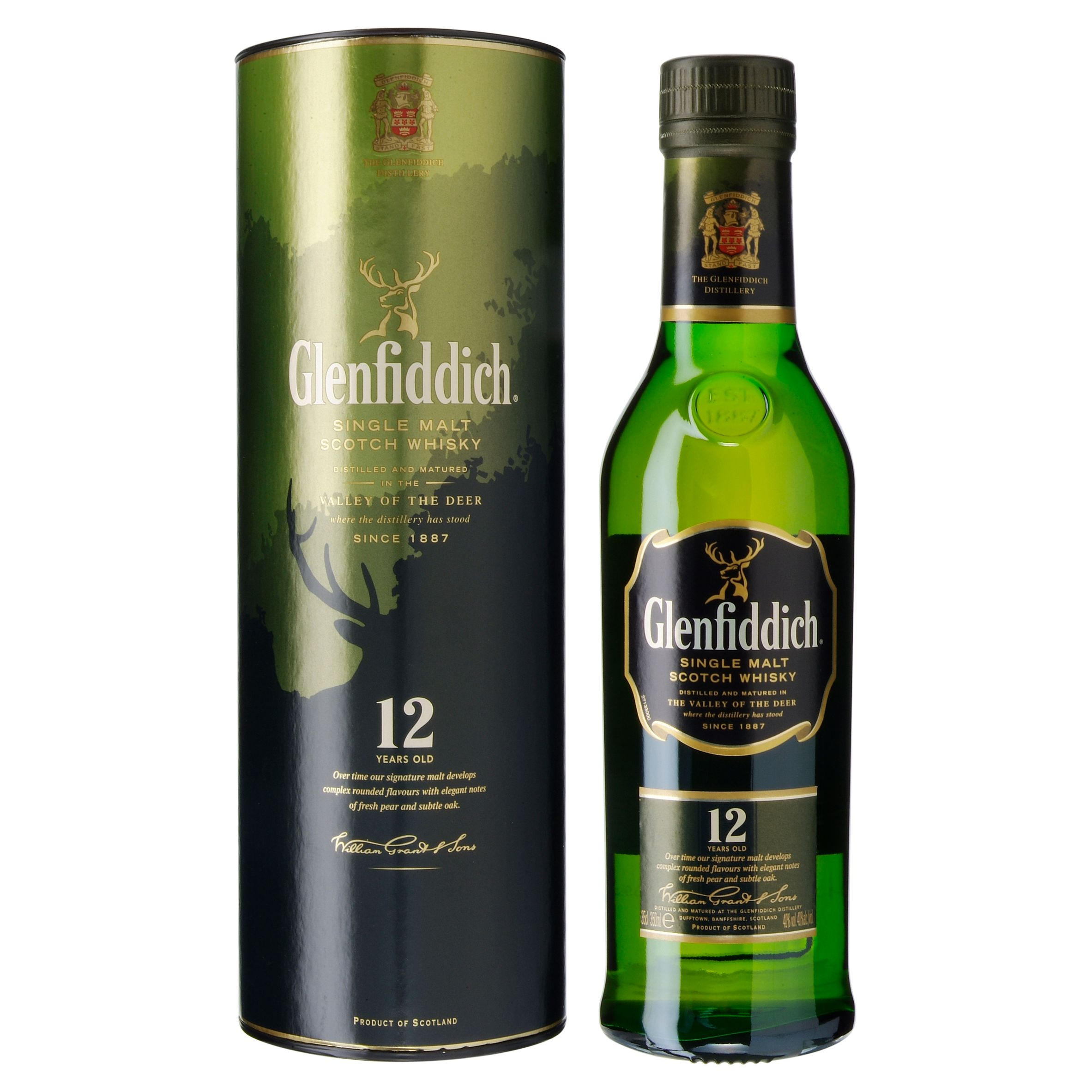 Glenfiddich 12 Year Old Speyside Special Reserve Whisky, 35 Cl