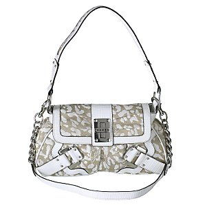 Guess Cheetah Printed & Chain Handbag