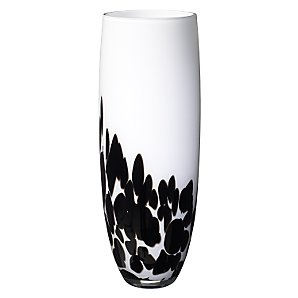 LSA Vase, White with Black Blobs, 35cm - John Lewis
