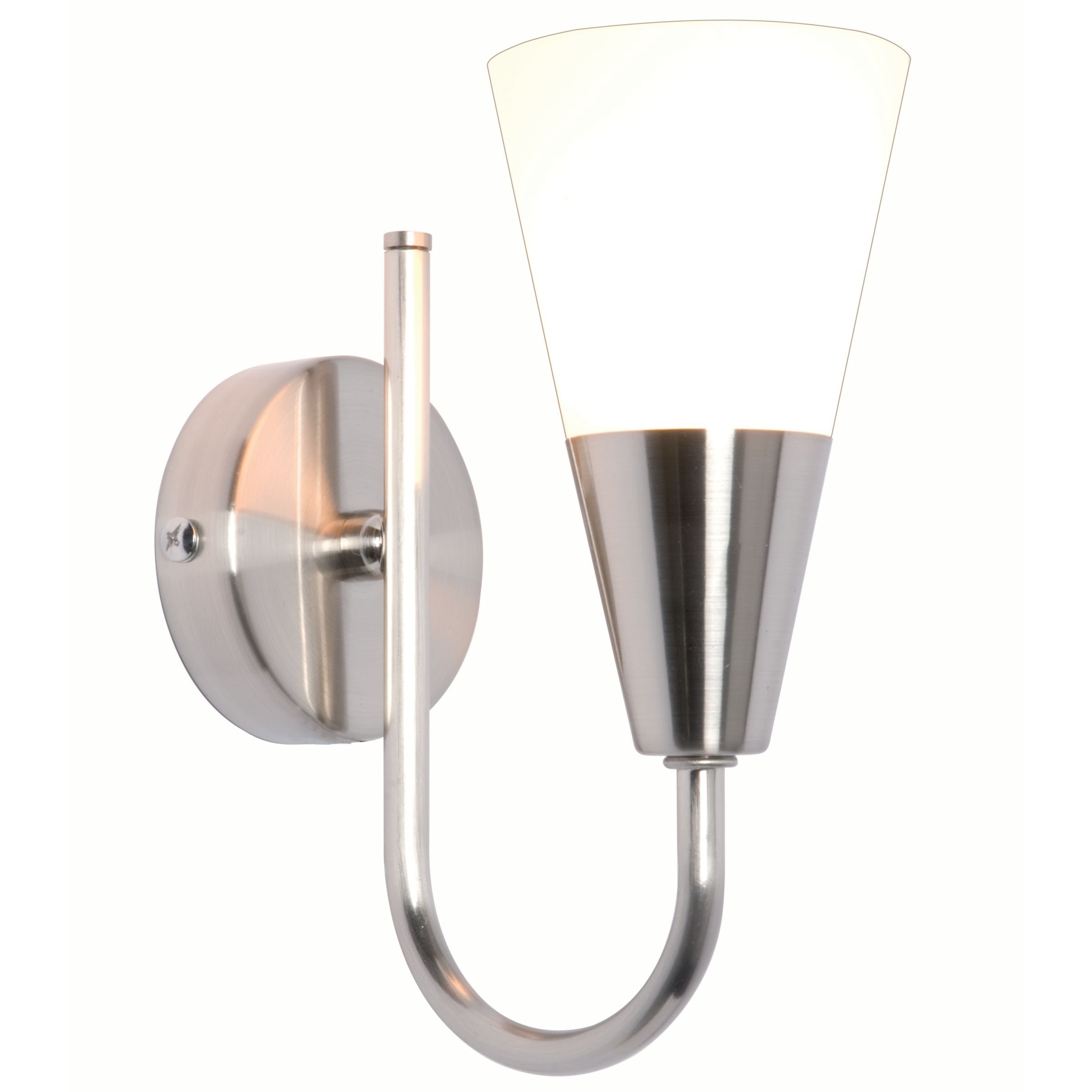 John Lewis Value Lulu Wall Light, Brushed Chrome - review, compare prices, buy online