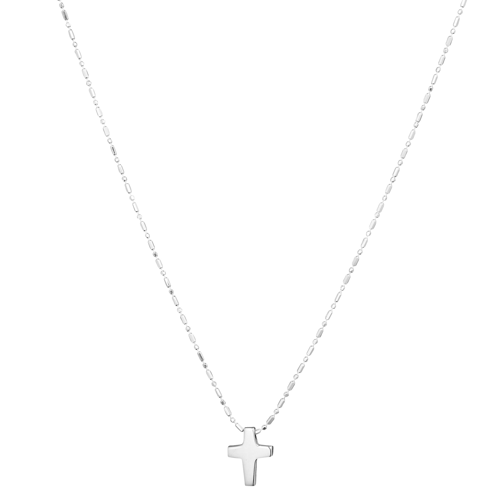 Tales from the Earth Cross Necklace, Silver