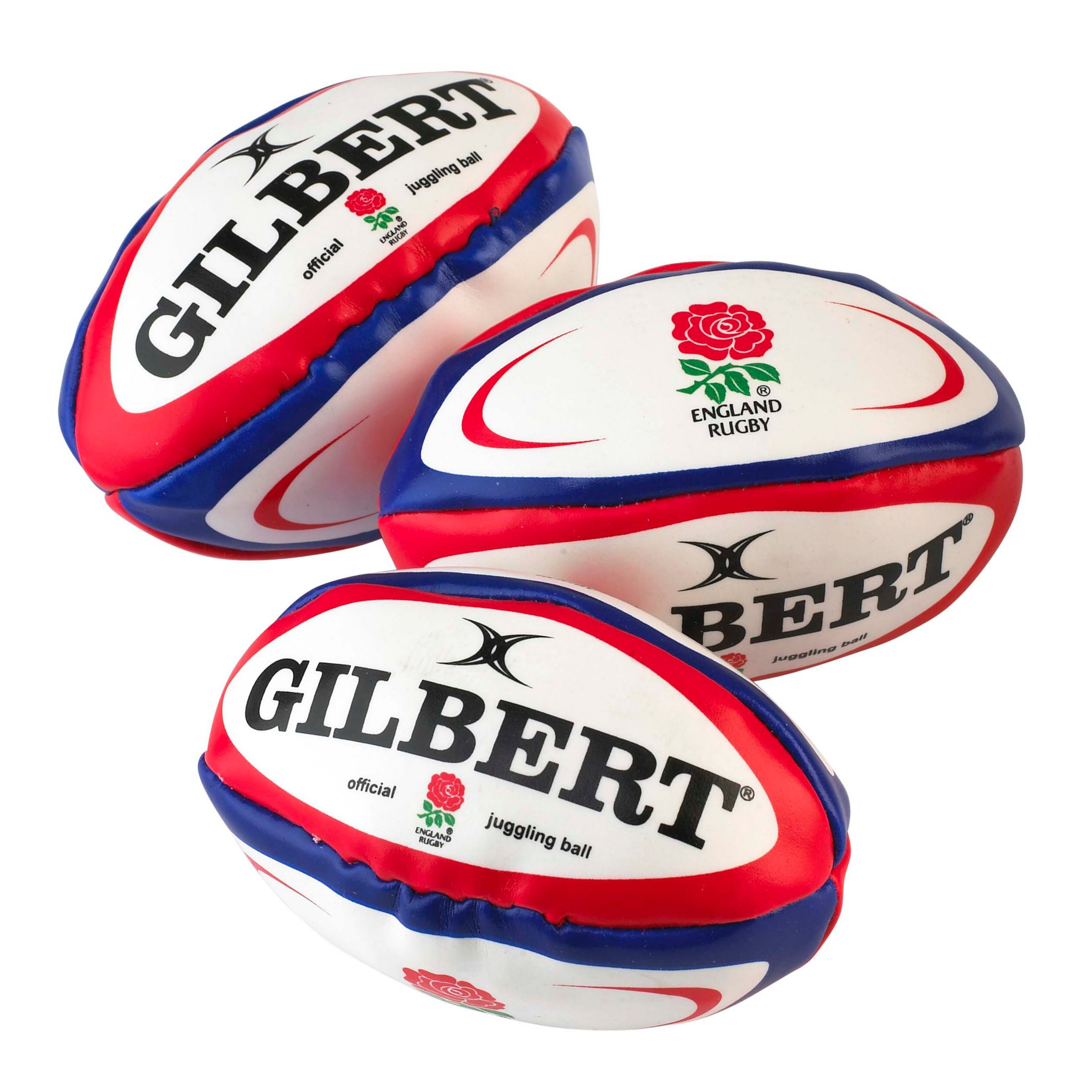 Gilbert Rugby Juggling Balls, Pack of 3