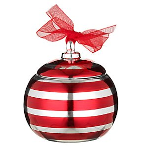John Lewis Metallic Bauble Candle, Red/Platinum