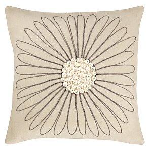 Buy Felt Daisy Cushion, Cream online at JohnLewis.com