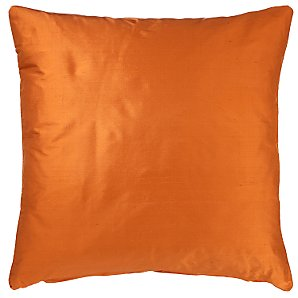 Buy Knife Edge Silk Cushion, Carrot online at JohnLewis.com