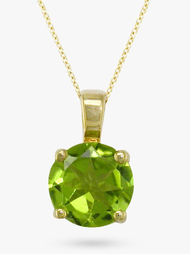 London Road Round Peridot Necklace