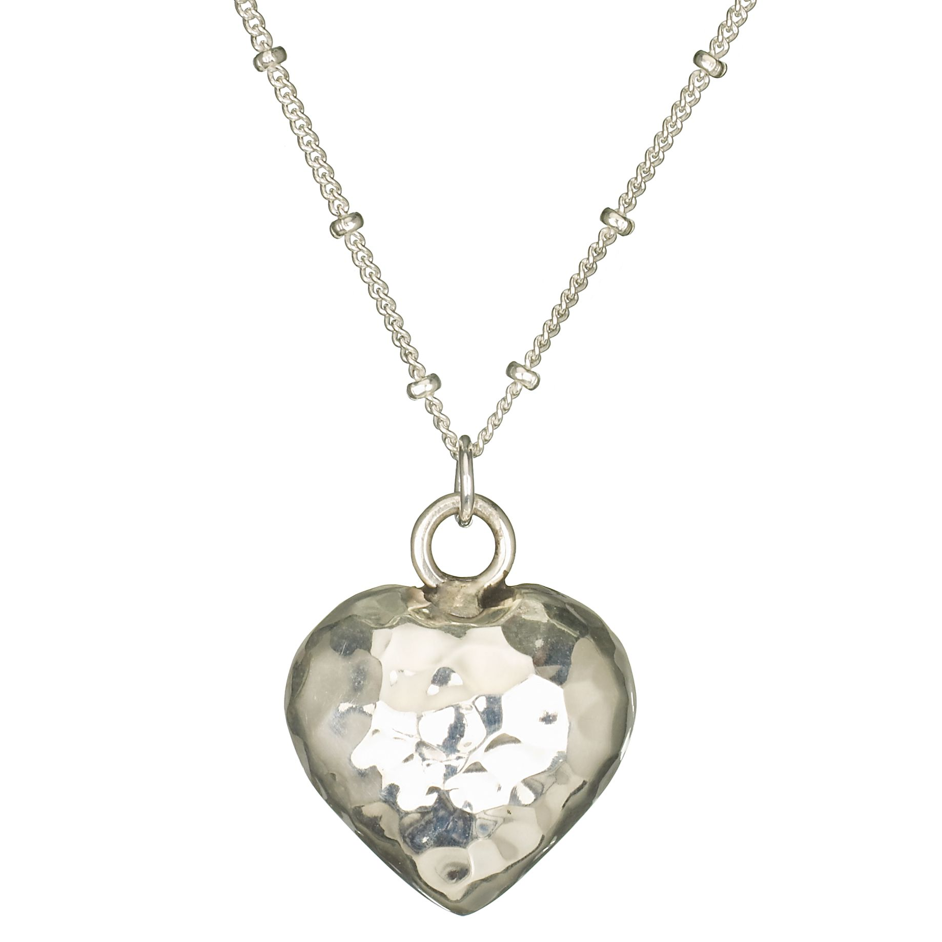 Martick Jewellery Planished Heart Pendant