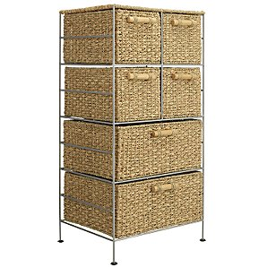 Seagrass and Water Hyacinth 6-Drawer Unit