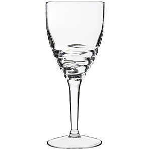 John Lewis Acrylic Wave Wine Glass, Clear