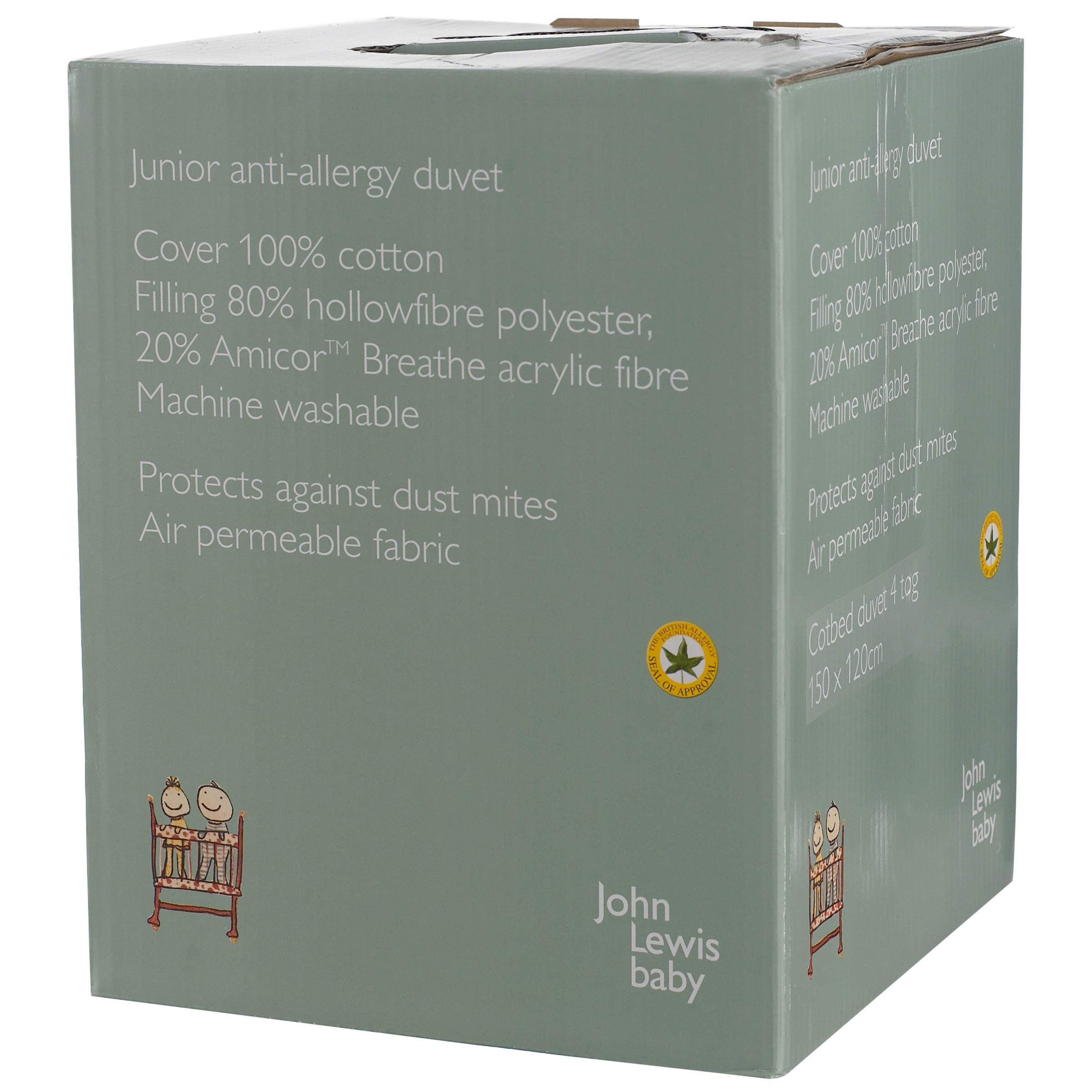 Anti Allergy Cotbed Duvet, 4 Tog