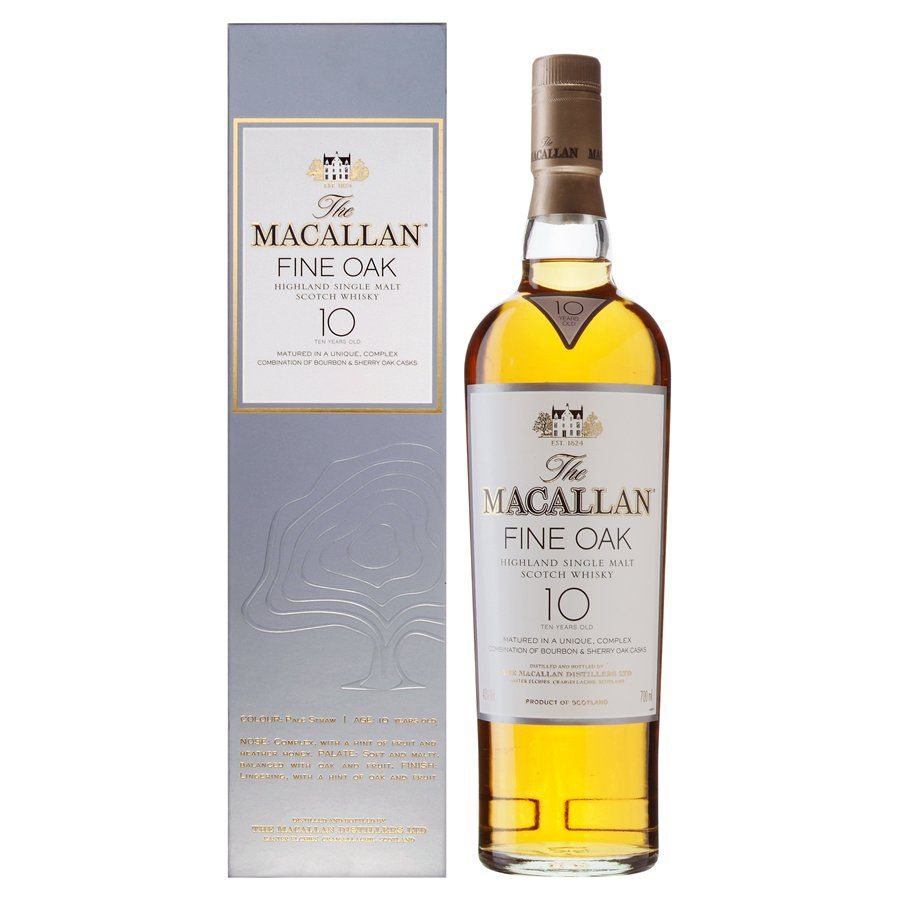 Macallan 10 Year Old Speyside Fine Oak Malt Whisky