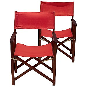 John Lewis Blaze Director's Chairs, Set of 2, Flame