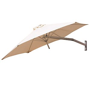 Paraflex Wall-Mounted Parasol, 2.7m, Natural