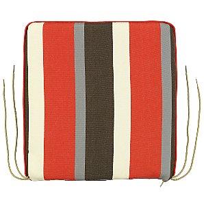 John Lewis Small Seat Pad, Stripe