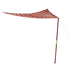 John Lewis Sail Shade, Flame Stripe